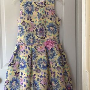 Other - Floral 12+ dress pink yellow blue purple Easter